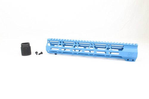"Zaviar SEA BLUE CERAKOTED 12"" MLOK Free-Float Handguard AR-15"