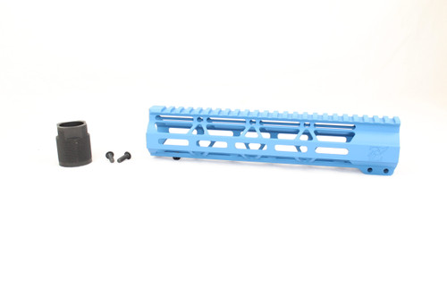 "Zaviar SEA BLUE CERAKOTED 10"" MLOK Free-Float Handguard AR-15"