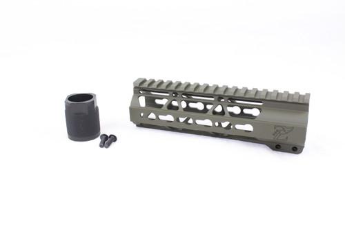 """Zaviar MAGPUL OD GREEN CERAKOTED 7"""" KEYMOD Free-Float Handguard AR-15"""