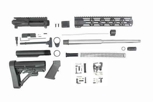 "ZAVIAR AR-47 7.62x39 'Wolverine Series' 16"" STAINLESS STEEL BUILDER KIT / 12"" MLOK HANDGUARD"