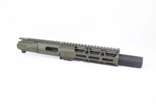 "Z9 'Stinger PDW' 9mm Assembled Upper Receiver MAGPUL OD GREEN | 6.5"" Barrel | 7"" M-LOK Handguard | Zaviar Flash Can Muzzle Device"