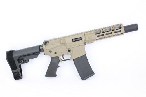 "AR9 ZAVIAR STINGER SERIES MAGPUL FDE COMPLETE PISTOL 6.5"" 9mm NITRIDE / 1:10 TWIST / SBA3 BRACE / 7"" MLOK HANDGUARD"