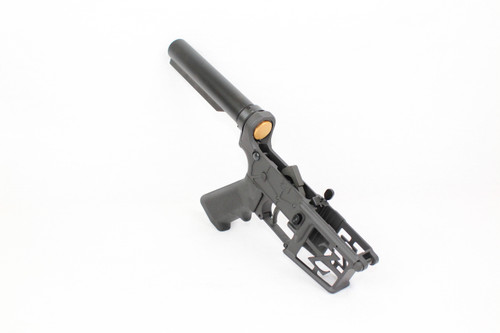 ZAVIAR BLACK CERAKOTED SKELETONIZED COMPLETE LOWER RECEIVER / RIFLE TUBE