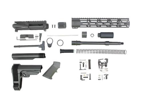 "'TACTICAL SERIES' 10.5"" .223 Wylde Nitrdie (M4) Builder Kit / 1:8 TWIST / SBA3 BRACE / 12"" MLOK HANDGUARD"