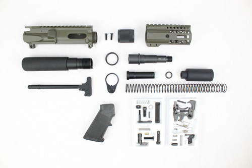 "AR9 - ZAVIAR 9MM 'STINGER PDW SERIES' MAGPUL OD GREEN BUILDER KIT / 3.5""-4.5"" NITRIDE / 1:10 TWIST / 4"" MLOK HANDGUARD"