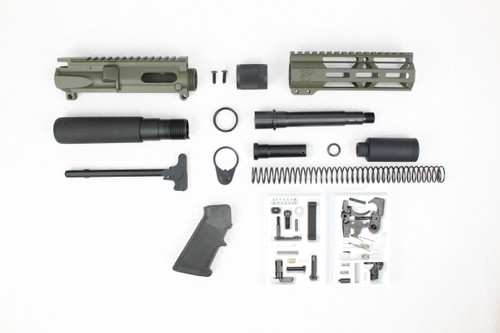 "AR9 - ZAVIAR 9MM 'STINGER PDW SERIES' (MAGPUL OD GREEN) BUILDER KIT / 5.5""-6.5"" NITRIDE / 1:10 TWIST / 7"" MLOK HANDGUARD"