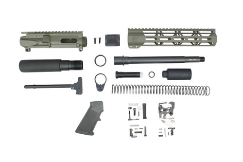 "AR9 - ZAVIAR 9MM 'STINGER PDW SERIES' (MAGPUL OD GREEN) BUILDER KIT /9.5""-10.5"" NITRIDE / 1:10 TWIST / 10"" MLOK HANDGUARD"