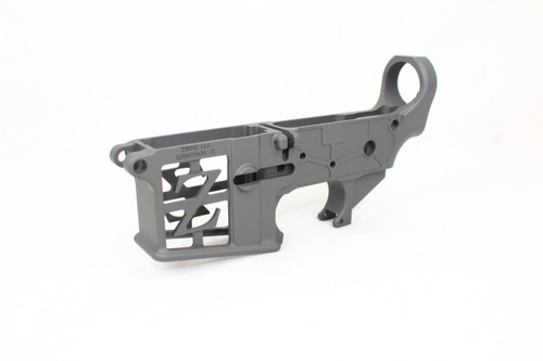 ZAVIAR SNIPER GREY CERAKOTED SKELETONIZED MIL-SPEC AR15 Stripped Lower Receiver