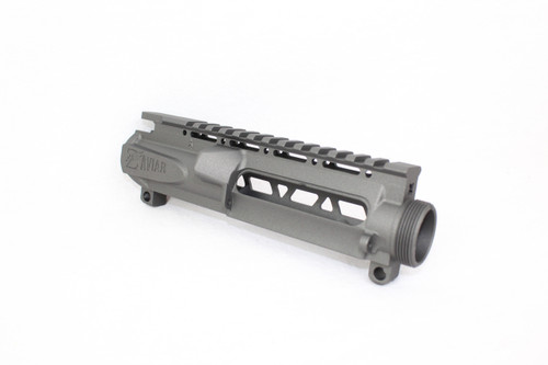 ZAVIAR (TUNGSTEN GREY CERAKOTE) SKELETONIZED MIL-SPEC AR15 STRIPPED UPPER RECEIVER