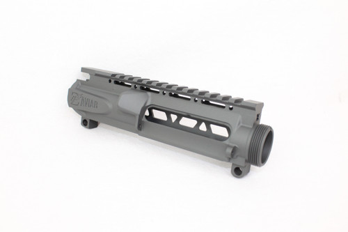 ZAVIAR (SNIPER GREY CERAKOTE) SKELETONIZED MIL-SPEC AR15 STRIPPED UPPER RECEIVER