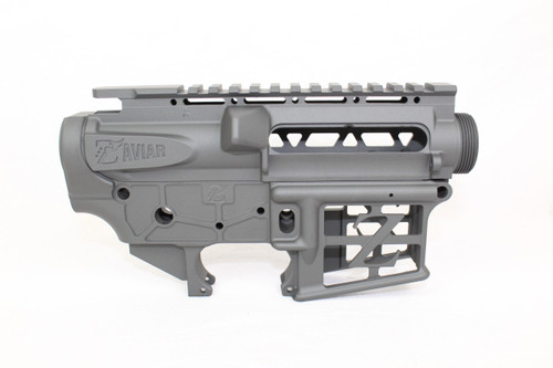 AR-15 Sniper Grey Cerakote Skeletonized / Stripped Lower Receiver + Upper Receiver Bundle