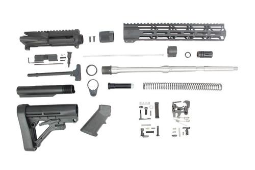 "ZAVIAR 16"" 5.56 NATO STAINLESS STEEL M4 BUILD KIT / 1:9 TWIST / A2 FLASH HIDER / 12"" MLOK HANDGUARD"