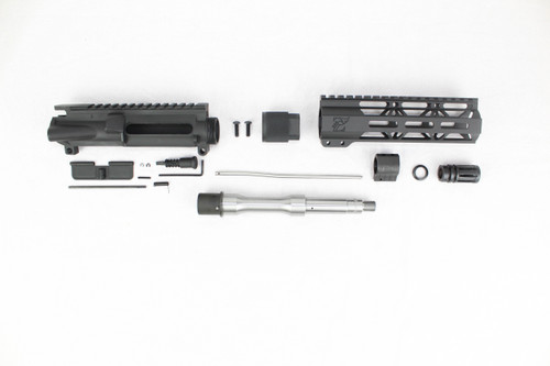 "ZAVIAR 7.5"" 5.56 NATO STAINLESS STEEL UPPER KIT / 1:7 TWIST / 7"" MLOK HANDGUARD"