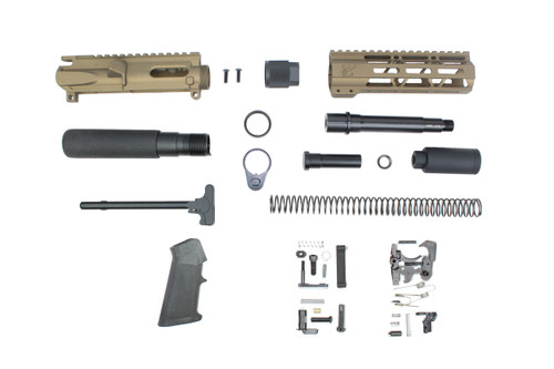 "AR9 - ZAVIAR 9MM 'STINGER PDW SERIES' (BURNT BRONZE) BUILDER KIT / 5.5""-6.5"" NITRIDE / 1:10 TWIST / 7"" MLOK HANDGUARD"