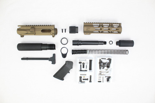 "AR9 - ZAVIAR 9MM 'STINGER PDW SERIES' (BURNT BRONZE) BUILDER KIT / 6.5""-7.5"" NITRIDE / 1:10 TWIST / 7"" MLOK HANDGUARD"