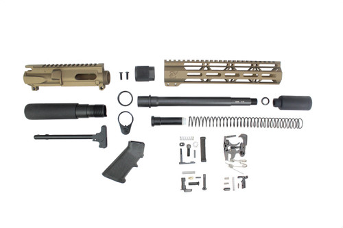 "AR9 - ZAVIAR 9MM 'STINGER PDW SERIES' (BURNT BRONZE) BUILDER KIT / 9.5""-10.5"" NITRIDE / 1:10 TWIST / 10"" MLOK HANDGUARD"