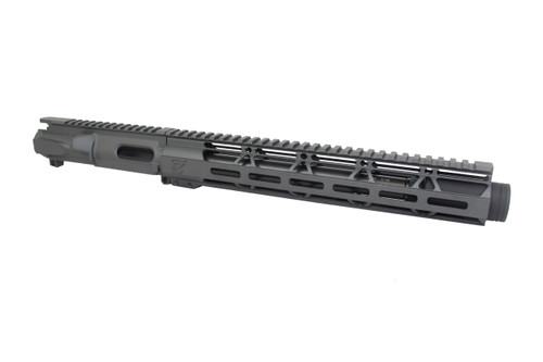 "9mm 'Stinger Series' Sniper Grey 9.5"" - 10.5"" Overall Nitride Upper Receiver / 1:10 Twist / 12"" MLOK Handguard"