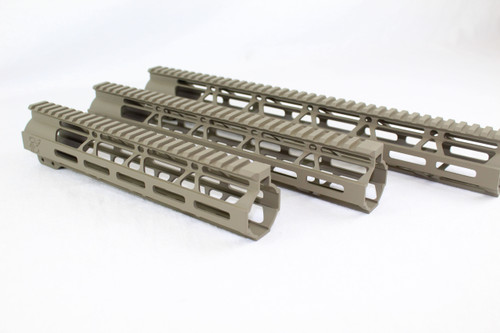 Zaviar MAGPUL FDE CERAKOTED MLOK Free-Float Handguard SET - AR-15
