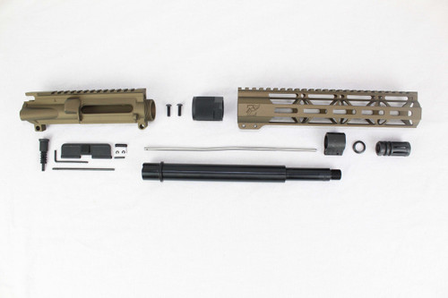 "ZAVIAR 10.5"" 7.62x39 NITRIDE BURNT BRONZE UPPER KIT / 1:10 TWIST /10"" MLOK HANDGUARD"