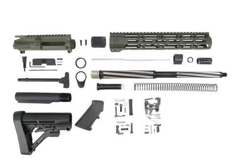 "7.62 x 39 'Wolverine Series' Magpul OD Green 16"" Bear Claw Builder Kit / 1:10 Twist / 12"" MLOK Handgaurd"