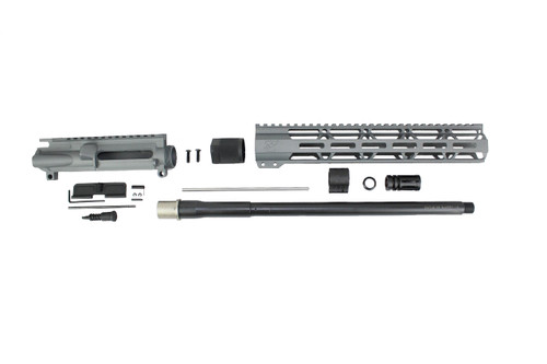 "ZAVIAR 16"" NITRIDE 300AAC BLACKOUT SNIPER GREY UPPER KIT / 1:8 TWIST / 12"" MLOK HANDGUARD"