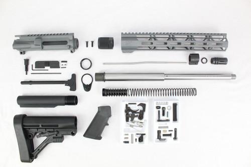 "ZAVIAR AR-47 7.62x39 'Wolverine Series' 16"" STAINLESS STEEL / SNIPER GREY BUILDER KIT / 12"" MLOK HANDGUARD"