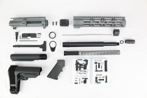 "ZAVIAR AR-47 7.62x39 'Wolverine Series' 10.5"" NITRIDE SNIPER GREY BUILDER KIT / 10"" MLOK HANDGUARD"