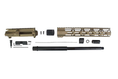 "ZAVIAR 16"" 7.62x39 NITRIDE BURNT BRONZE CARBINE UPPER KIT / 1:10 TWIST /12"" MLOK HANDGUARD"
