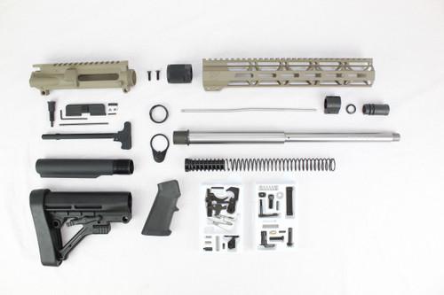 "ZAVIAR AR-47 7.62x39 'Wolverine Series' 16"" STAINLESS STEEL / MAGPUL FDE BUILDER KIT / 12"" MLOK HANDGUARD"
