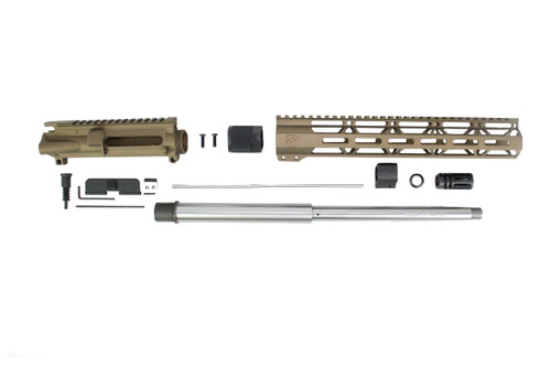 "ZAVIAR 16"" 7.62x39 STAINLESS STEEL / BURNT BRONZE CARBINE UPPER KIT / 1:10 TWIST /12"" MLOK HANDGUARD"