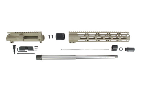 "ZAVIAR 16"" 7.62x39 STAINLESS STEEL / MAGPUL FDE CARBINE UPPER KIT / 1:10 TWIST /12"" MLOK HANDGUARD"