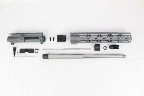 "ZAVIAR 16"" 7.62x39 STAINLESS STEEL / SNIPER GREY CARBINE UPPER KIT / 1:10 TWIST /12"" MLOK HANDGUARD"