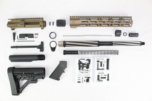 "7.62 x 39 'Wolverine Series' Burnt Bronze 16"" Bear Claw Builder Kit / 1:10 Twist / 12"" MLOK Handguard"
