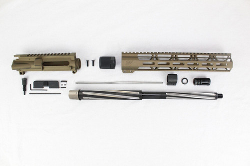 "7.62 x 39 'Wolverine Series' Burnt Bronze 16"" Bear Claw Upper Kit / 1:10 Twist / 12"" MLOK Handguard"