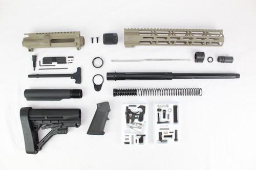 "ZAVIAR AR-47 7.62x39 'Wolverine Series' 16"" STRAIGHT FLUTED NITRIDE MAGPUL FDE BUILDER KIT I 12"" MLOK HANDGUARD"