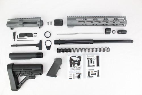 "ZAVIAR AR-47 7.62x39 'Wolverine Series' 16"" STRAIGHT FLUTED NITRIDE SNIPER GREY BUILDER KIT I 12"" MLOK HANDGUARD"