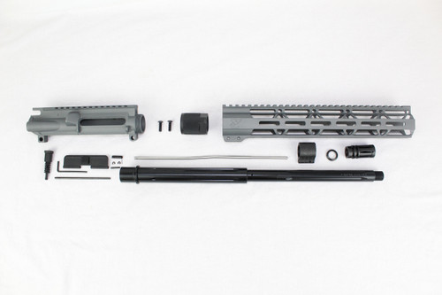 "ZAVIAR 16"" 7.62x39 STRAIGHT FLUTED NITRIDE SNIPER GREY CARBINE UPPER KIT / 1:10 TWIST /12"" MLOK HANDGUARD"