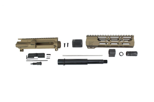 "7.5"" NITRIDE 300AAC BLACKOUT BURNT BRONZE UPPER KIT / 1:8 TWIST / 7"" MLOK HANDGUARD"