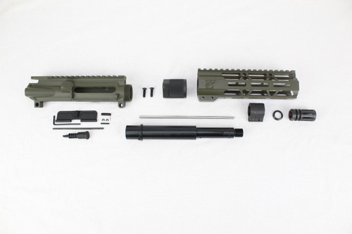 "ZAVIAR 7.5"" NITRIDE 300AAC BLACKOUT MAGPUL OD GREEN UPPER KIT / 1:8 TWIST / 7"" MLOK HANDGUARD"