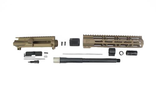 "300AAC Blackout 'Special Ops Series' Burnt Bronze 10.5"" Nitride Upper Kit / 1:8 Twist / 10"" MLOK Handguard"