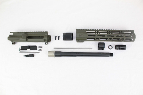 "ZAVIAR 10.5"" NITRIDE 300AAC BLACKOUT MAGPUL OD GREEN UPPER KIT / 1:8 TWIST / 10"" MLOK HANDGUARD"