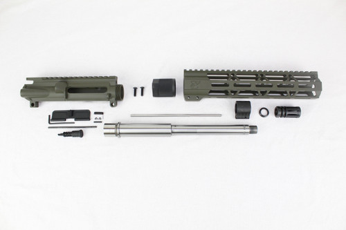 "ZAVIAR 10.5"" STAINLESS STEEL 300AAC BLACKOUT MAGPUL OD GREEN UPPER KIT / 1:8 TWIST / 10"" MLOK HANDGUARD"