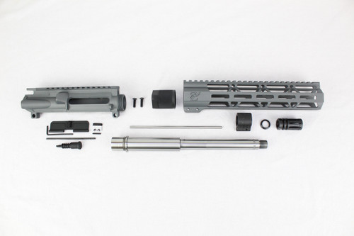 "ZAVIAR 10.5"" STAINLESS STEEL 300AAC BLACKOUT SNIPER GREY UPPER KIT / 1:8 TWIST / 10"" MLOK HANDGUARD"