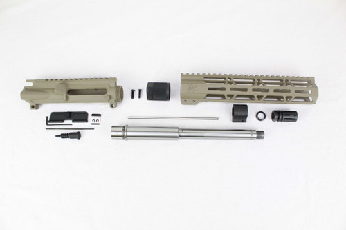 "ZAVIAR 10.5"" STAINLESS STEEL 300AAC BLACKOUT MAGPUL FDE UPPER KIT / 1:8 TWIST / 10"" MLOK HANDGUARD"
