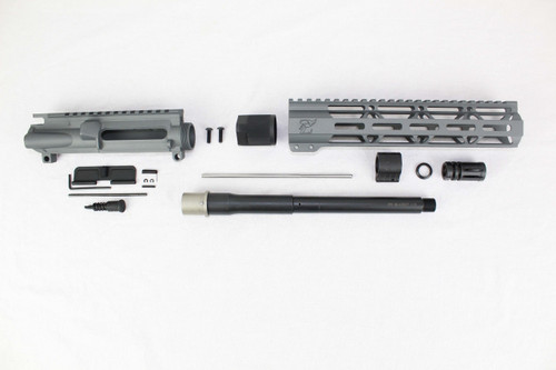 "ZAVIAR 10.5"" NITRIDE 300AAC BLACKOUT SNIPER GREY UPPER KIT / 1:8 TWIST / 10"" MLOK HANDGUARD"