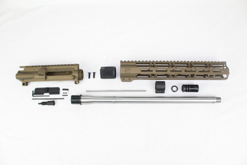 "ZAVIAR 16"" STAINLESS STEEL 300AAC BLACKOUT BURNT BRONZE UPPER KIT / 1:8 TWIST / 12"" MLOK HANDGUARD"