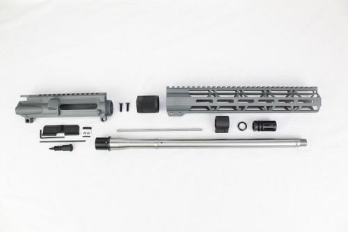 "ZAVIAR 16"" STAINLESS STEEL 300AAC BLACKOUT SNIPER GREY UPPER KIT / 1:8 TWIST / 12"" MLOK HANDGUARD"