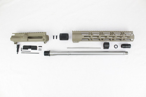 "ZAVIAR 16"" STAINLESS STEEL 300AAC BLACKOUT MAGPUL FDE UPPER KIT / 1:8 TWIST / 12"" MLOK HANDGUARD"