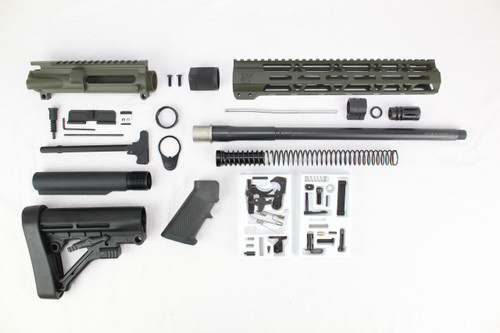 "ZAVIAR 16"" NITRIDE 300AAC BLACKOUT MAGPUL OD GREEN BUILDER KIT / 1:8 TWIST / PREDATOR STOCK  / 12"" MLOK HANDGUARD"