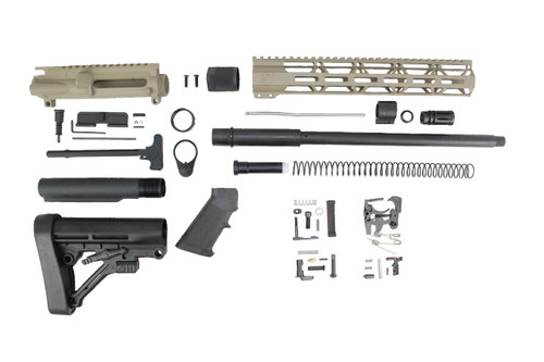 "ZAVIAR 16"" PARKERIZED 300AAC BLACKOUT MAGPUL FDE BUILDER KIT / 1:8 TWIST / PREDATOR STOCK / 12"" MLOK HANDGUARD"